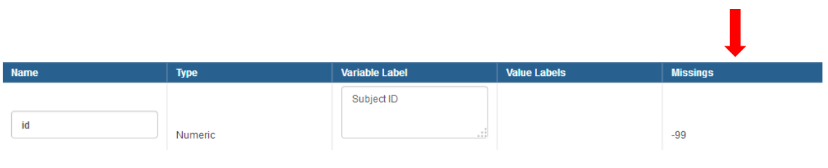 how to add missing values to your codebook variable