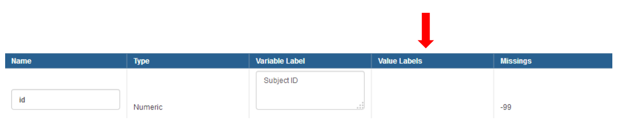 how to add value labels to your codebook variable